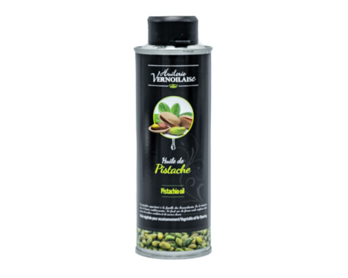 Op zoek naar een stevige, groene olie die overloopt van de smaak? Probeer dan dit blikje Huilerie Vernoilaise pistache-olie zeker eens uit
